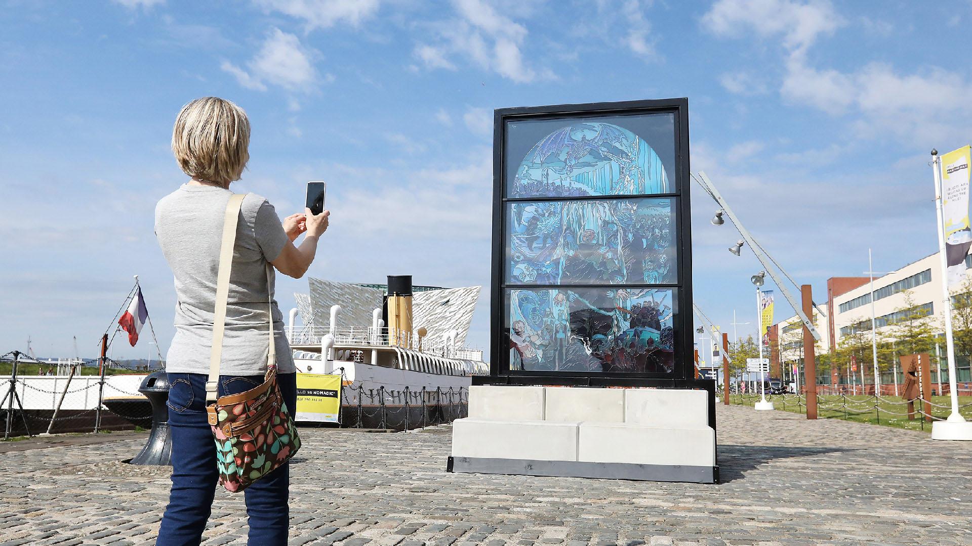 Maritime Mile - Public Art - Glass of Thrones