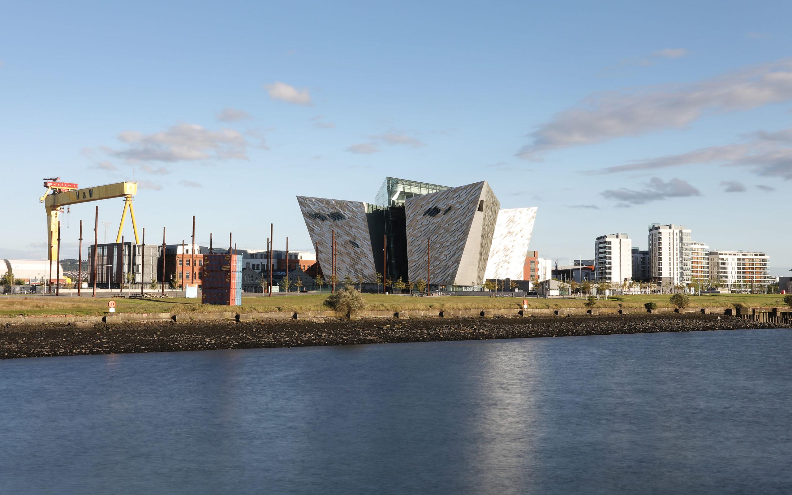 Views of Maritime Mile Belfast Northern Ireland