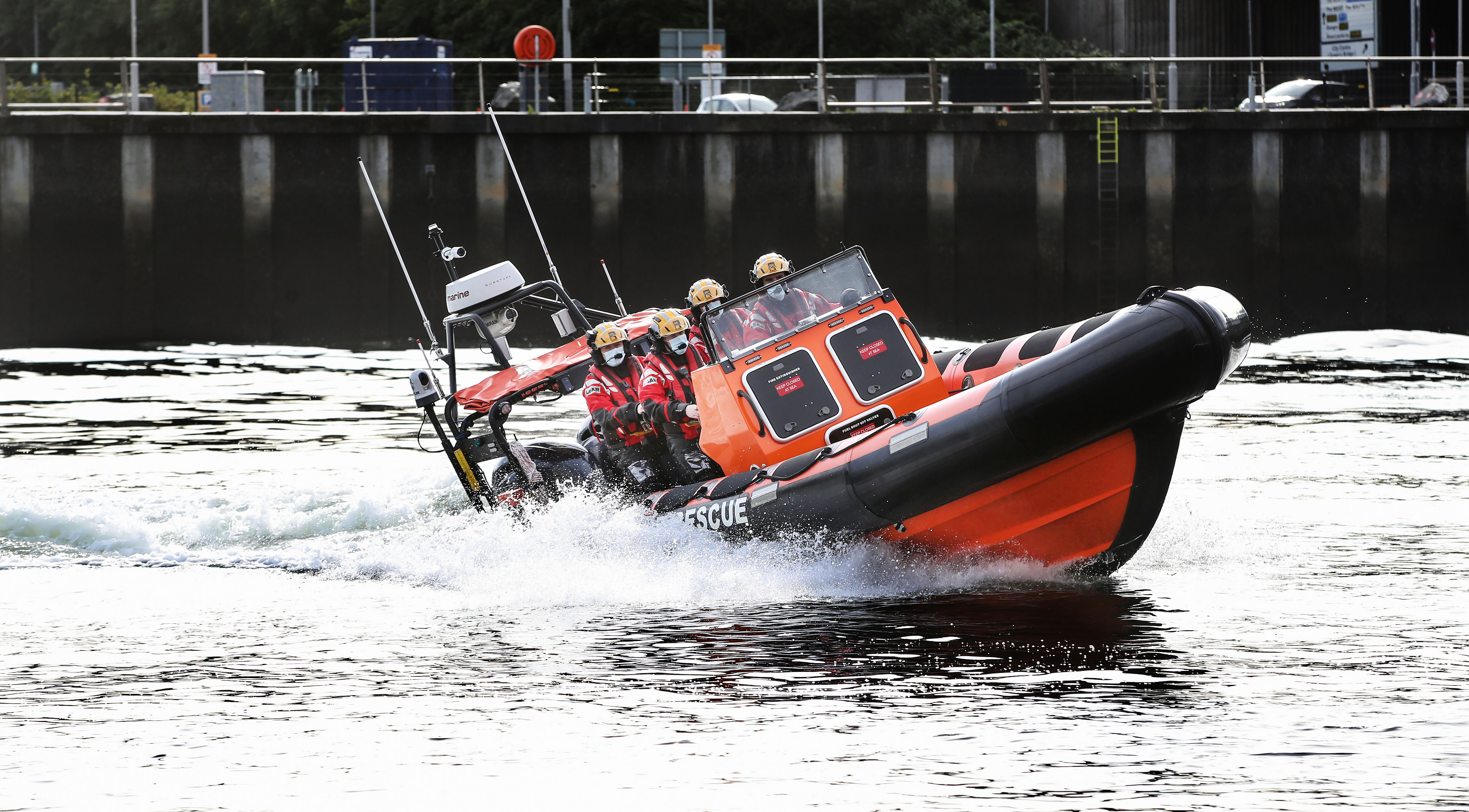 Lagan Search & Rescue boat Image (from Harbour)